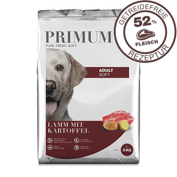 Primum getreidefreies Hundefutter mit Lamm