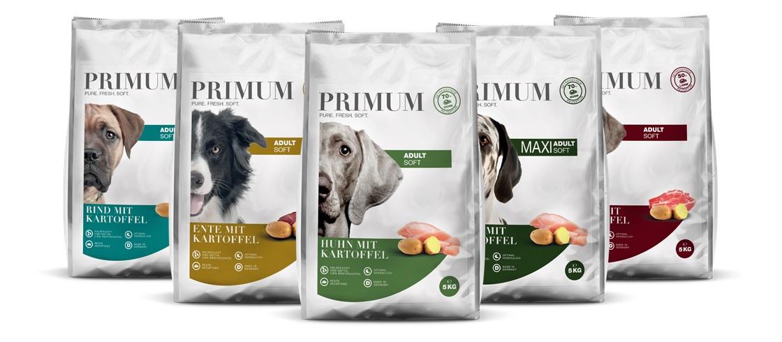 Primum Halbfeuchtes getreidefreies Hundefutter mit viel Fleisch